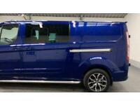 BLUE FORD TRANSIT CUSTOM 2.0 310 LIMITED LR P/V DIESEL *FROM £333 PER MONTH*