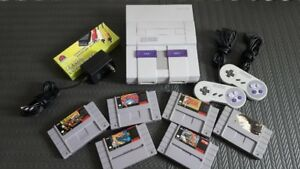 SNES Console Games Controllers - Super Metroid Street Fighter II
