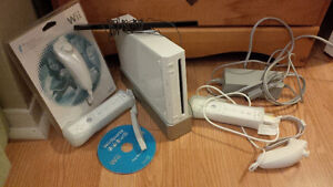 Nintendo Wii with Controllers and Game