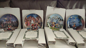 4 Disneyland 40th Anniversary Collector Plates