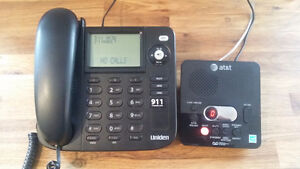 UNIDEN 1350 BK telephone and AT&T answering machine