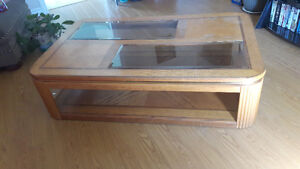 Solid wood coffee table set