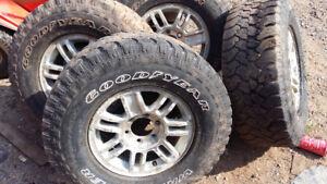 265-75-16 Goodyear tires on 6 bolt alum rims