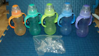 5 NUBY BOTTLES, 10$ THE LOT
