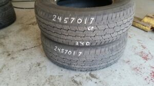 Pair of 2 General Grabber HTS 245/70R17 tires (65% tread life)