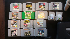 N64 with 6 controllers, 13 games, 2 rumble paks Kingston Kingston Area image 2