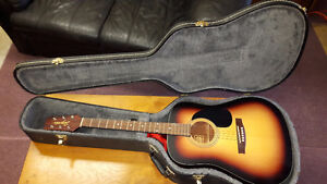 Segovia 6 string acoustic guitar w/ case and strap