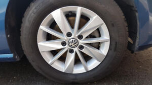 VW OEM RIMS with ALL SEASON TIRES    15 INCH