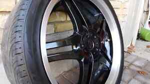 "20"" DIP DAGGER RIMS with tires London Ontario image 2"