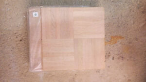 NEW UNFINISHED OAK PARQUET FLOORING. 8 PIECES 8 SQ. FT.