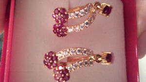 Earrings - Ruby and diamond