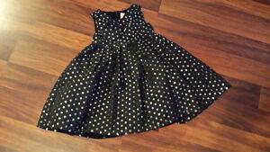 Brand new 2T toddler dress - black/metallic sparkling polka dots