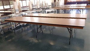 30 - 3' x 12' table with folding legs