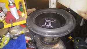 """Freshly reconed Treo CSX 15"""" subwoofer dual 1"""