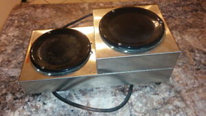 Used Two Tier Double Burner Coffee Warmer Station - 120V