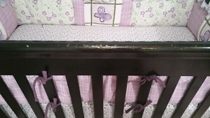 Crib with mettress