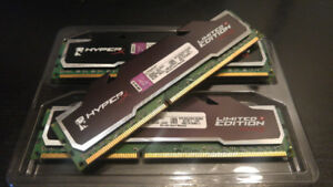 8 or 16 GB DDR3 Kingston HyperX Limited Edition C9 XMP Memory