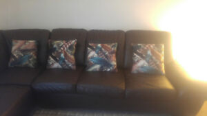 Sectional and accent chairs set