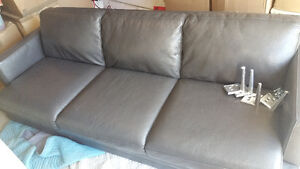 Modern ELTE Leather Couch , Pristine Condition!