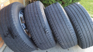 Set of Michelin LTX M/S tires mounted on Honda wheels 245/65R17