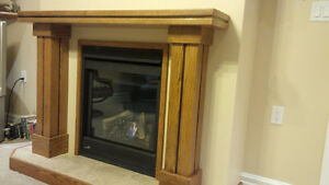 Solid Oak Fireplace Mantle - NEW Kitchener / Waterloo Kitchener Area image 2