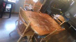 Vintage dining set,china cabinet, coffee table