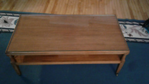 1960s Antique Solid Wood Coffee Table