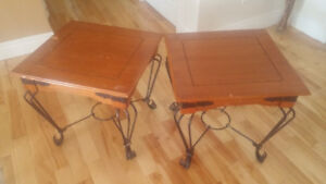 Wood and Iron Side Tables