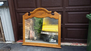Big Ugly Dresser Mirror  (mirror could be reframed beautifully)