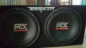 sub with box and amp 12 sub