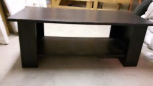 Wooden Coffee Table - Adjustable, Removable Lower Shelf
