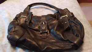 Large black leather purse from Boes