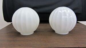 Globe blanc - deux