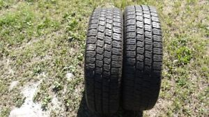 PAIR OF GOOD USED GENERAL LT225/75R/16 TIRES