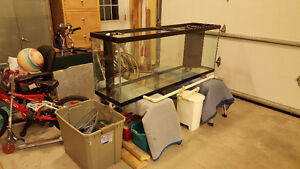 150 Gallon, Drilled aquarium with stand and 30 gallon sump tank