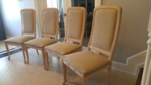 6 Italian high end dining room chairs, ready for a makeover