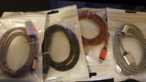 Brand new Micro USB Braided cables