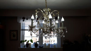 FS: Crystal Chandelier Beautiful Condition - NEW PRICE