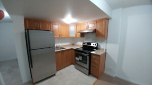 1 bedrm, living room, kitchen, washroom in basement