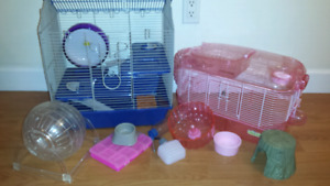 2 Almost new hamster cages + accesories for sale!