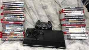 500G PS3 Slim and 39 games!