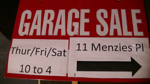 Garage/Yard Sale 11 Menzies Pl