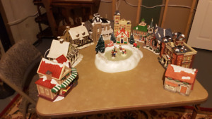 Vintage Victorian Christmas Village + Accessories