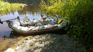10.8' inflatable fishing boat