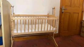 Literally brand new swing crib