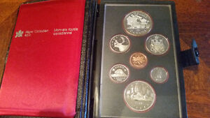 1981 Silver Coin set with the train!!  nice patina only $25.....