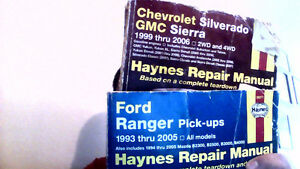 FORD RANGER N CHEVY/GMC HAYNES REPAIR BOOKS