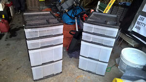 Plastic Chest of Drawers for Tool Storage