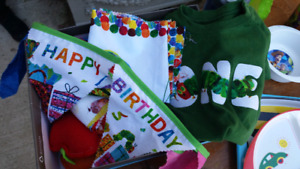 The Hungry Caterpillar First Birthday party stuff