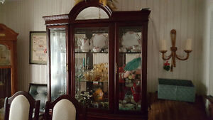 Beautiful dining room table and hutch combo